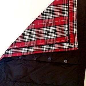 """29"""" x 24"""" red plaid pillow slipcover button back"""